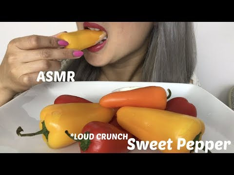 ASMR [LOUD CRUNCH SWEET PEPPERS ] No Talking | Eating Sound N.E LetsEat