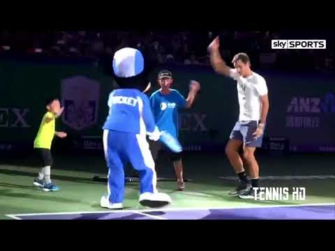 Roger Federer Dancing with Mickey Mouse