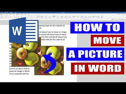 In Word HOW to move a PICTURE | Move an image in WORD