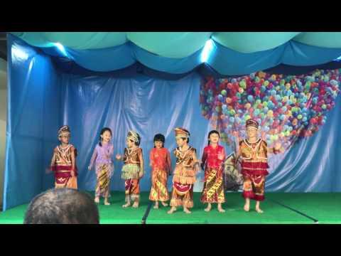 Performing Traditional Dancing by Students of Bekasi Montessori School ( Upper B Class 2017)