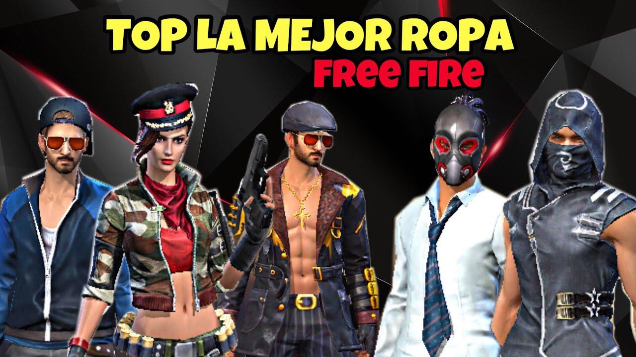 """TOP 11 """"LA MEJOR ROPA DE FREE FIRE"""" 25/08/18 - YouTube"""