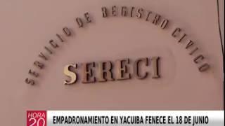 EMPADRONAMIENTO EN YACUIBA FENECE EL 18 DE JUNIO