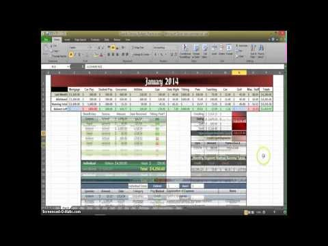 How to Make a Budget in Excel - Aux. 4