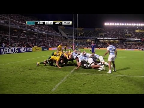 Argentina spend 8 minutes destroying Australian scrum for 0 points