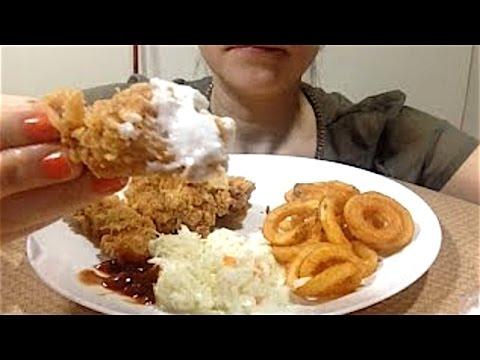 Asmr Crunchy Chicken Strips Crispy Curly Fries Eating Show Mukbang Fast Forward Eating