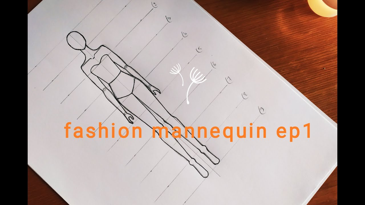 How To Draw A Fashion Mannequin For Beginners Youtube