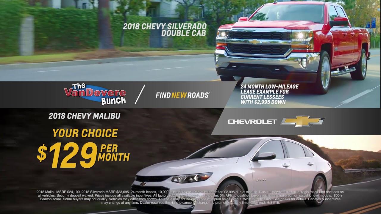 VanDevere Chevrolet - TV Commercial Akron - Lease 2018 Silverado or