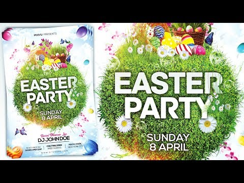 Easter Party Event Flyer Design - Photoshop Tutorial