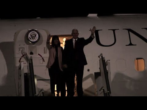 US Vice President Mike Pence arrives in Jordan