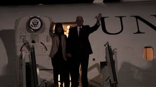 US Vice President Mike Pence arrives in Jordan