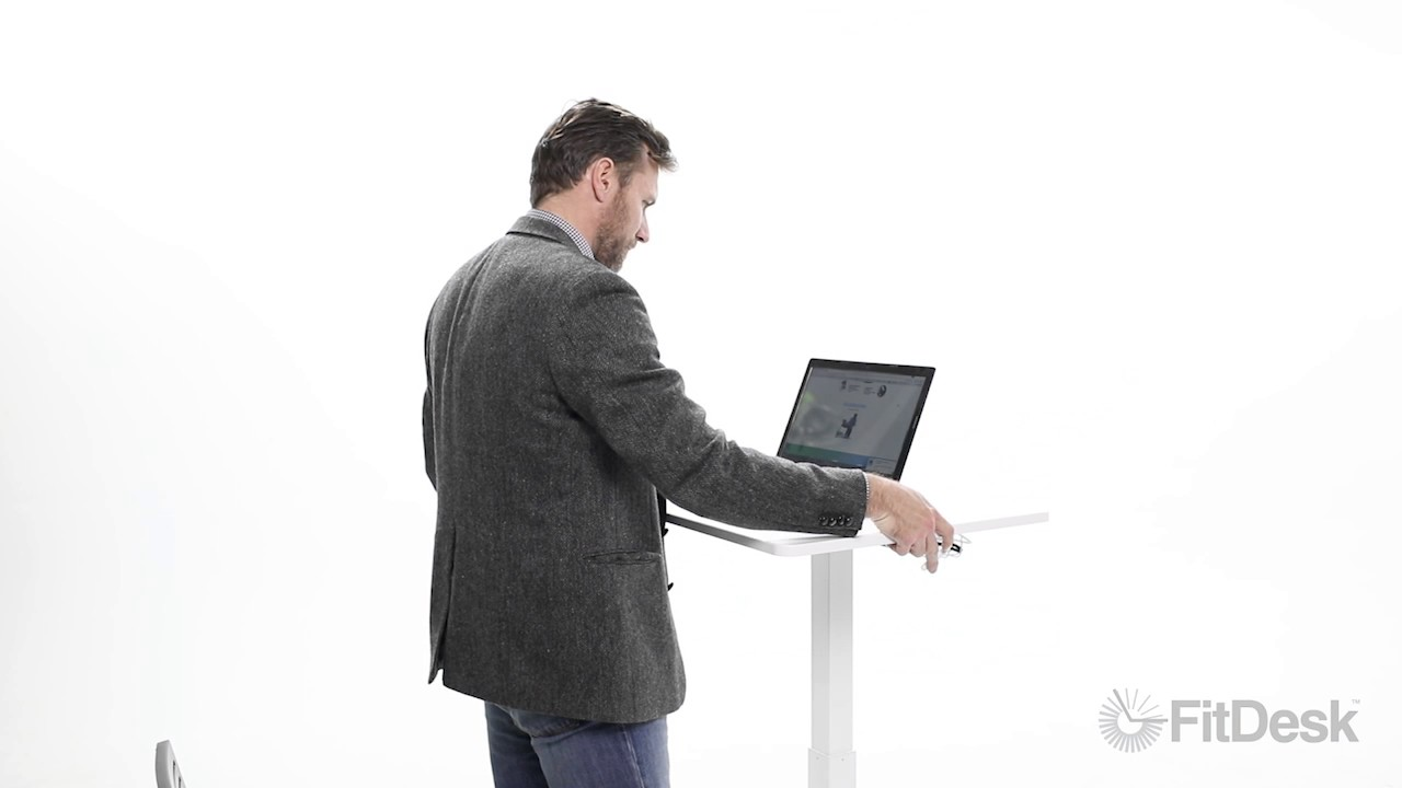 Fitdesk S Sit To Stand Desk Youtube
