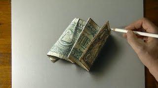 Drawing a dollar bill - July 4 Celebration