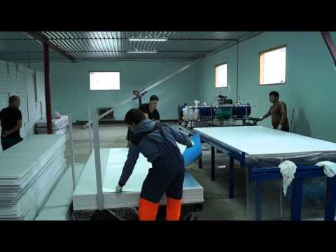 Производство ПВХ сэндвич панелей
