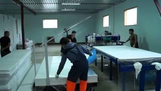 Производство ПВХ сэндвич панелей(, 2014-12-06T19:41:37.000Z)