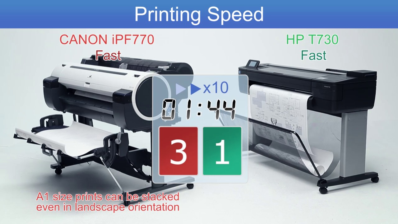 Canon Ipf770 Vs Hp T730 Youtube