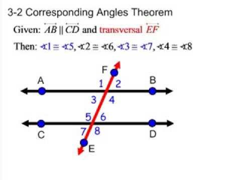 Geometry Ch. 3.2 Properties of Parallel Lines - YouTube