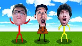 ¡Si te ríes pierdes en Minecraft! 🤣 Los mejores disfraces con Trollino, Mikecrack y Los Compas!