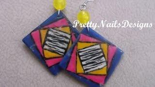 104 Diy Acrylic Colourful Geometrical Zebra Dangle Earrings