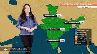 Monsoon Forecast for Aug 7, 2017: Rain in Delhi, Mumbai, Chennai, Chhattisgarh, Uttarakhand