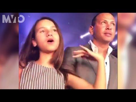 La hija de Alex Rodriguez es fan de Jennifer Lopez   The MVTO