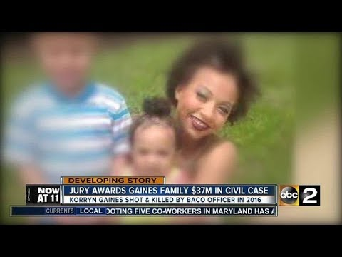 Jury Awards $37 Million To Family of Korryn Gaines - Baltimore Police
