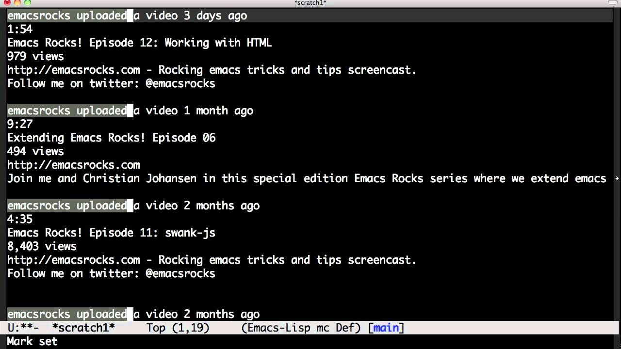 Emacs Rocks! Episode 13: multiple-cursors