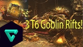 Diablo III - Reaper of Souls T6 3 Goblin Rifts! 20 legendaries, 350M gold!