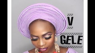 Download Video HOW TO TIE THE V SHAPED GELE PERFECT FOR BRIDES!!!!/ DUMEBI LEA MP3 3GP MP4