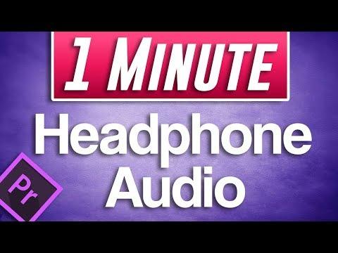 Premiere Pro CC : How to Play Audio Through Headphones  (No Sound Headphones Fix)