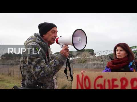 Italy: Anti-war Protesters Stage Rally Outside US Military Base In Tuscany