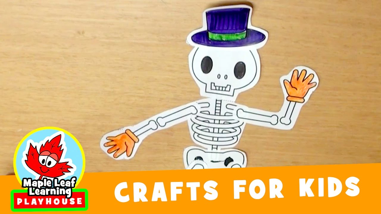 skeleton halloween craft for kids | maple leaf learning playhouse