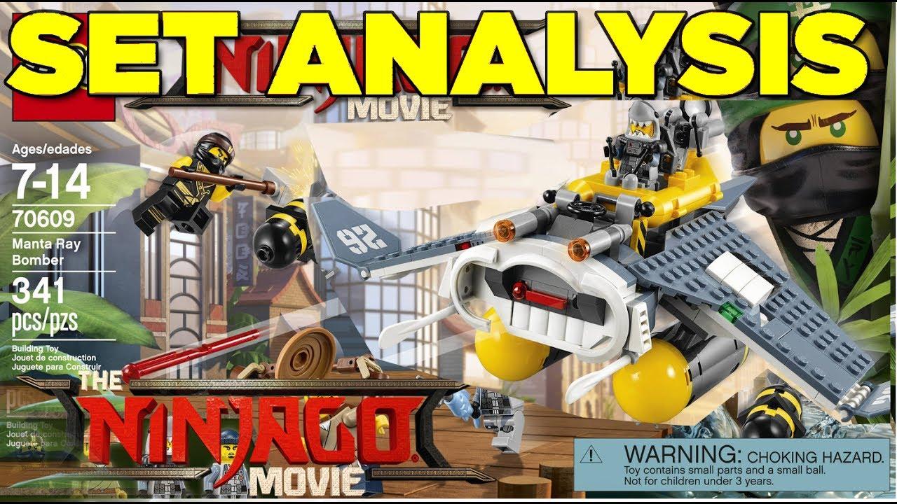 823466101 LEGO Ninjago Movie: 70609 Manta Ray Bomber Set Analysis! - YouTube