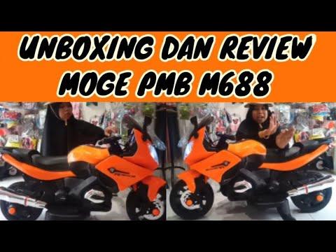 UNBOXING DAN REVIEW MOGE PMB M688/TYPE R/NINJA/MOTOR ACCU/AKI ANAK/JUAL MAINAN ANAK AKI/KEDIRI