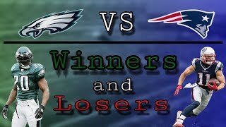 Patriots vs Eagles Winners and Losers