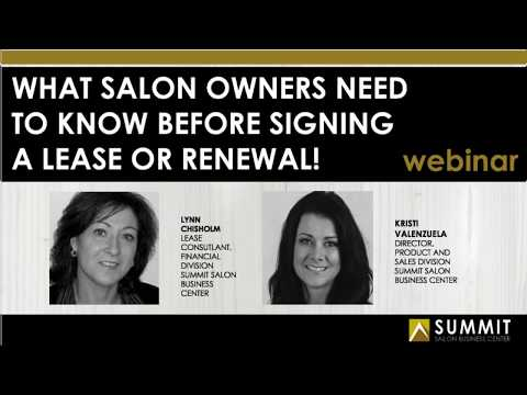 What Salon Owners Need to Know BEFORE Signing a Lease or Ren