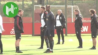Jose Mourinho leads Manchester United training ahead of Juventus clash - Man United v Juventus