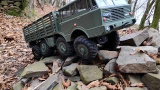 Tatra 813 Kolos / RC truck 1/10 8x8 axles test on a tubular chassis / 3D printed