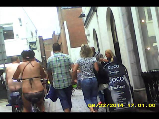 Exeter Naked Bike Ride 2014 with music.wmv