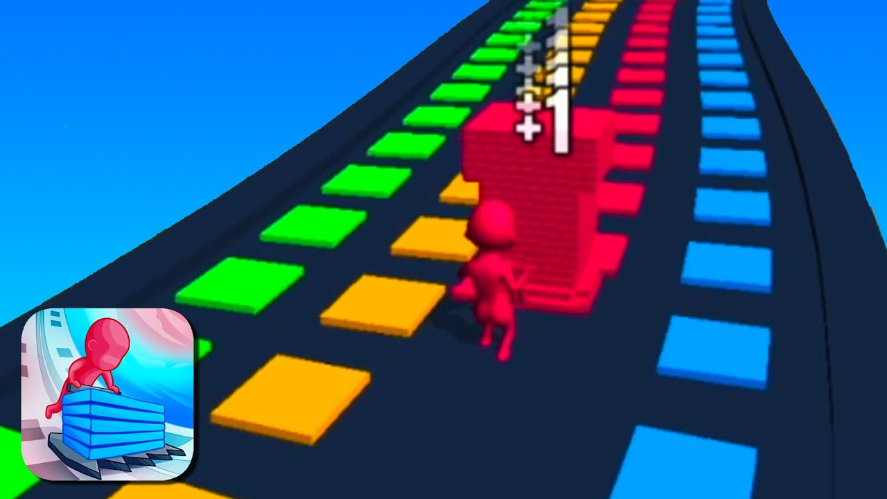 STACK COLORS All Levels Road (iOs, Android) Gameplay | Lvl 137-143