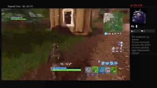 Trying to get my first win in fortnite battle royal