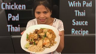 Chicken Pad Thai & Sauce Recipe - Easy Follow Cooking Guide with Thai/English Language!