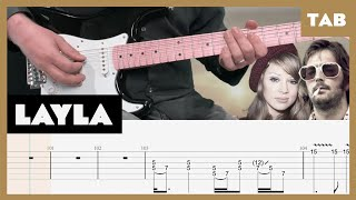 Layla (Electric Version) Derek and the Dominos Cover   Guitar Tab   Lesson   Tutorial видео