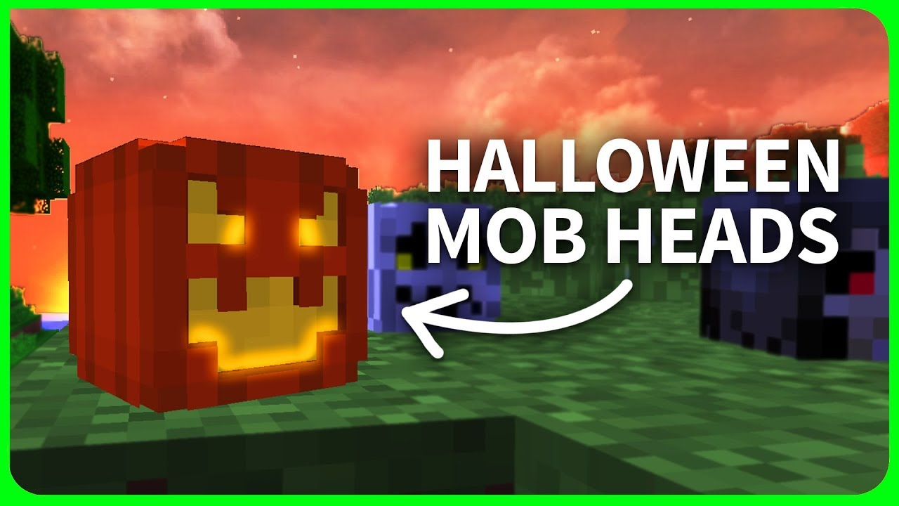 Minecraft 1 12 How To Get Halloween Mob Heads Minecraft
