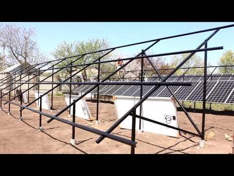 Наземное крепление солнечных панелей из чернового металла