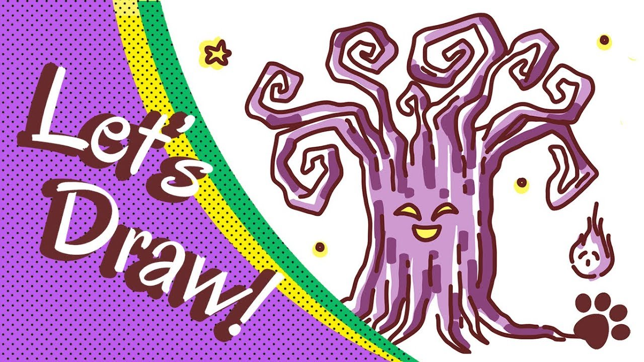 How To Draw Scary Tree For Halloween Cute And Easy Cute Halloween Drawings
