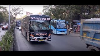 As Gorgeous As Taj Mahal ! 5 National's Multi Axle Scania Bus Coverage in Mumbai