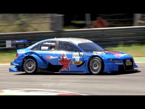 2011 Audi A4 DTM R14 Sound - Revs, Accelerations & Fly Bys
