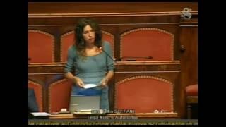 La senatrice Erika Stefani battaglia in Senato per la tutela della legittima difesa