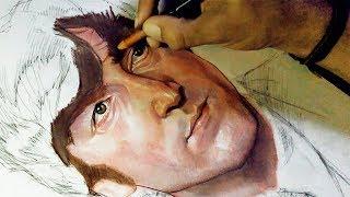 JOHN LENNON Speed Drawing - Dibujando a John Lennon - Dibujando a un Beatle (parte 4)