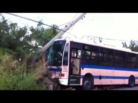 Bus Accident, North Shore, Bermuda, Nov 24 2011